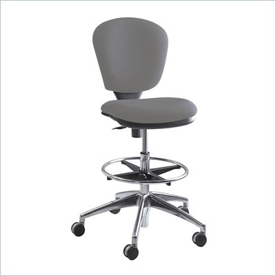 Safco Metro Extended Height Drafting Chair in Gray