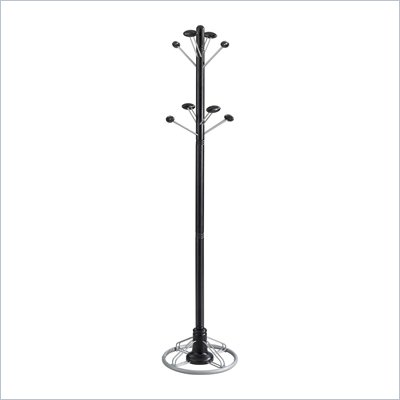 Safco Modern Coat Rack Tree in Black
