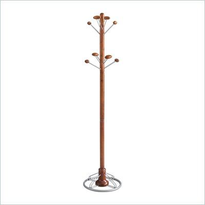 Safco Modern Coat Rack Tree in Cherry