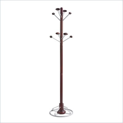 Safco Modern Coat Rack Tree in Mahogany