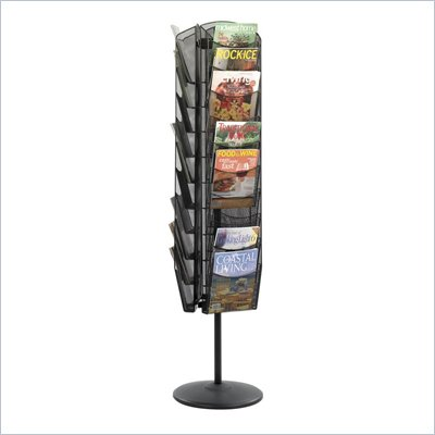 Safco Onyx Rotating Mesh Magazine Stand