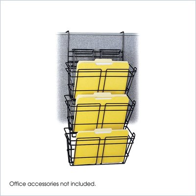 Safco PanelMate Triple File Basket (Set of 6)