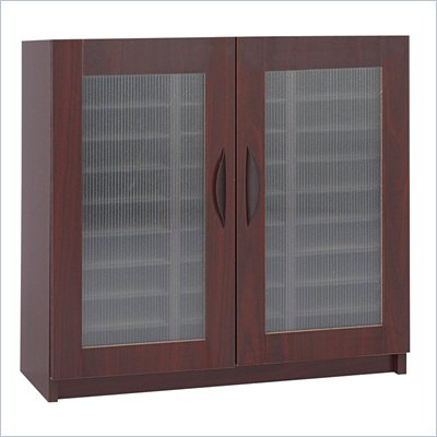 Safco Mahogany 30 Compartment Mail Organizer With Doors