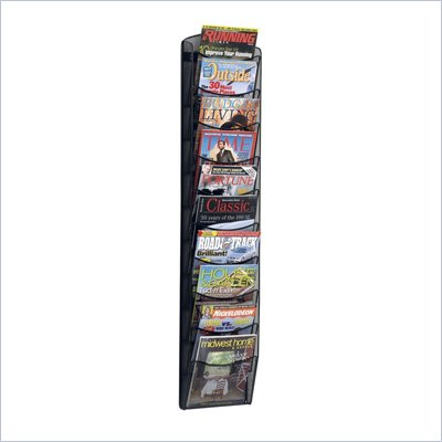 Safco 10-Pocket Black Onyx Magazine Rack