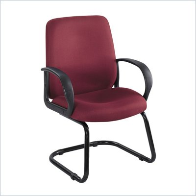Safco Poise Burgundy Executive Guest Seating with Cantilever Base