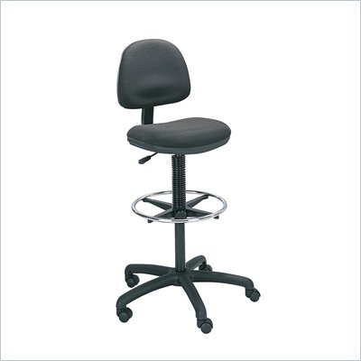 Safco Precision Extended Drafting Chair with Footrest in Black