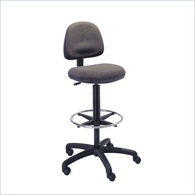 Safco Precision Extended Drafting Chair with Footrest in Dark Gray