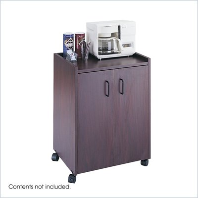 Safco Mahogany Mobile Refreshment Center