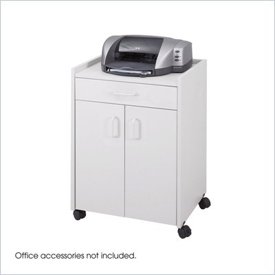 Safco Grey Mobile Refreshment Center With Drawer