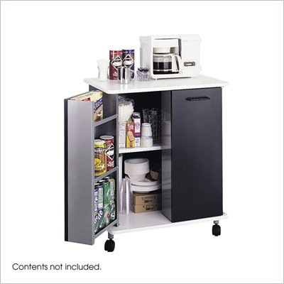 Safco Black Refreshment Stand