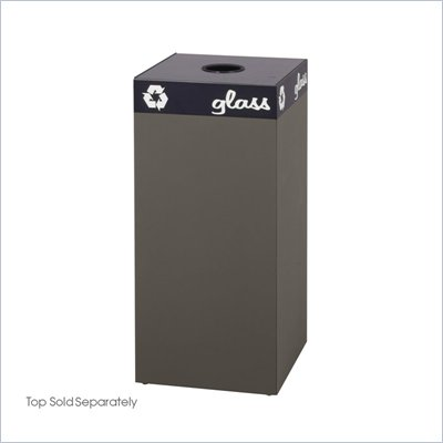 Safco Public Square Brown Recycling Receptacle Base