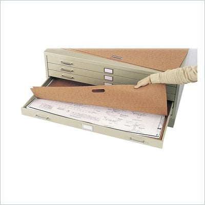 Safco Flat Files 36&quot; x 24&quot; Metal File Portfolio (Set of 10)