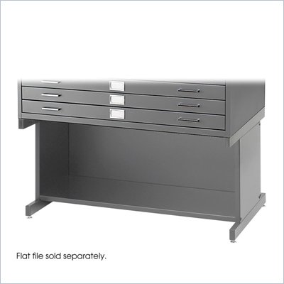 Safco Open 20&quot;H Base for Flat File Cabinet in Gray