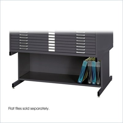 Safco Open 20&quot;H Base for 4986 and 4996 Flat File Cabinets in Black