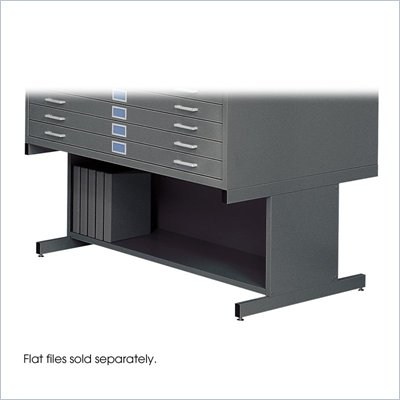 Safco 20&quot;H Open Base for 4998 Flat File Cabinet in Black
