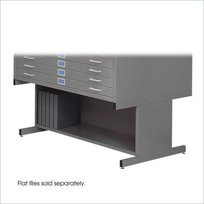 Safco 20&quot;H Open Base for 4998 Flat File Cabinet in Gray