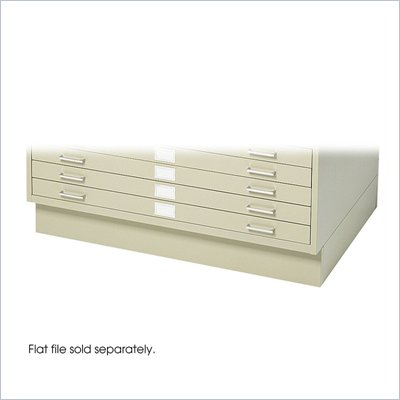 Safco Closed Base for 4994 Flat File Cabinet in Tropic Sand
