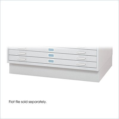 Safco Closed Base for 4994 Flat File Cabinet in White