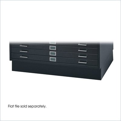 Safco Metal Closed Low Base for 4998 Flat Files Cabinet in Black