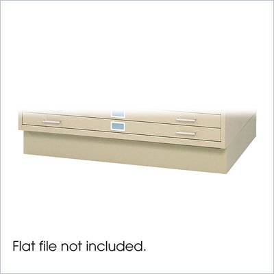 Safco Closed Low Base for 4998 Flat File Cabinet in Tropic Sand