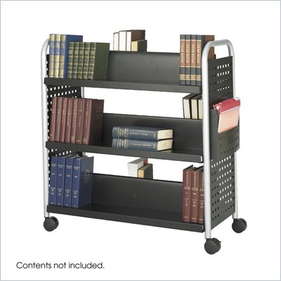 Safco Scoot Double Sided 6 Shelf Book Cart