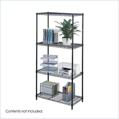 Safco 36&quot;x18&quot; Industrial Wire Shelving in Black