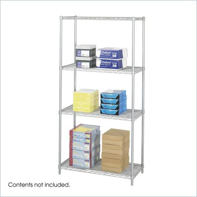 "Safco 36""x18"" Industrial Wire Shelving in Gray"