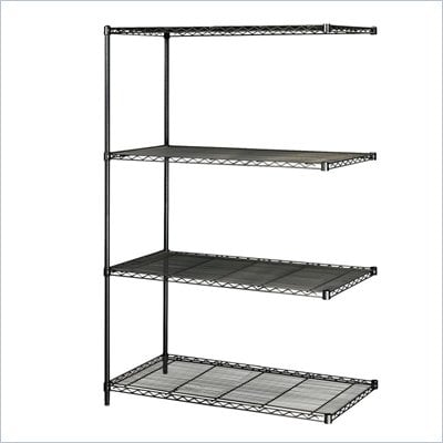 Safco 48&quot;x18&quot; Industrial Add-On Unit in Black