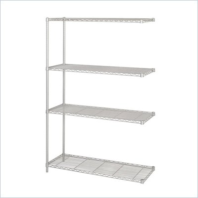 Safco 48&quot;x18&quot; Industrial Add-On Unit in Gray