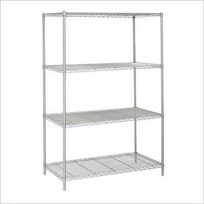 "Safco 48""x24"" Industrial Wire Shelving in Gray"