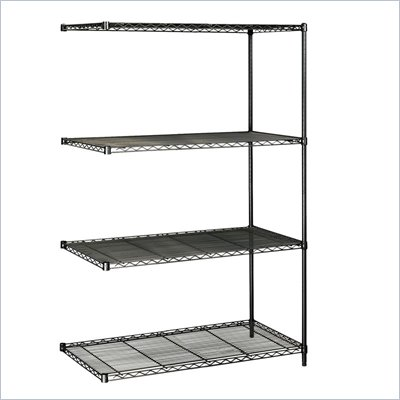 Safco 48&quot;x24&quot; Industrial Add-On Unit in Black