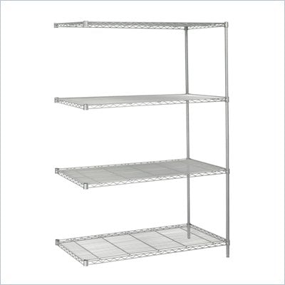 Safco 48&quot;x24&quot; Industrial Add-On Unit in Gray