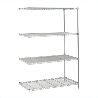 "Safco 48""x24"" Industrial Add-On Unit in Gray"