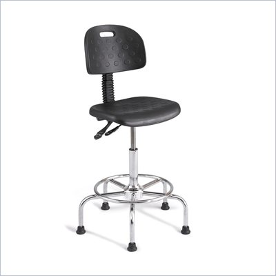 Safco Soft Tough Deluxe Industrial Chair in Dark Gray