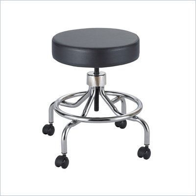 Safco Black Lab Drafting Stool with Manual Low Base