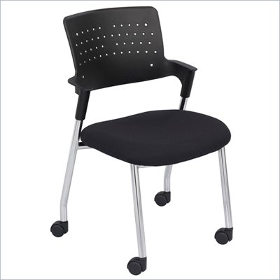 Safco Spry Guest Chair in Black (Set of 2)