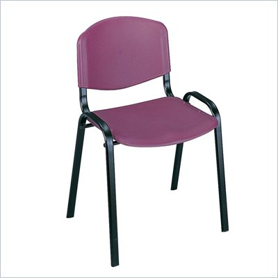 Safco Stack Chairs in Burgundy (Set of 4)