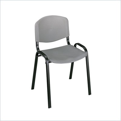 Safco Stack Chairs in Charcoal (Set of 4)