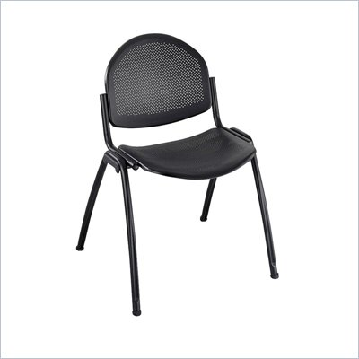 Safco Echo Stack Chairs in Black (Set of 2)