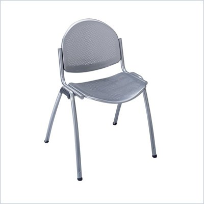 Safco Echo Stack Chairs in Silver (Set of 2)