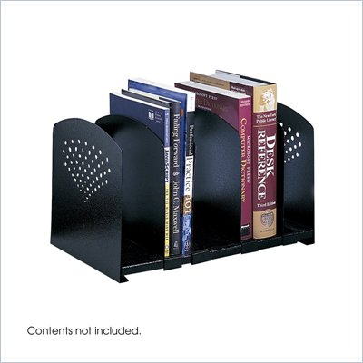 Safco Black Five Section Adjustable Book Rack