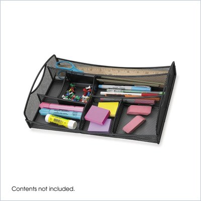 Safco Onyx Black Mesh Drawer Organizer