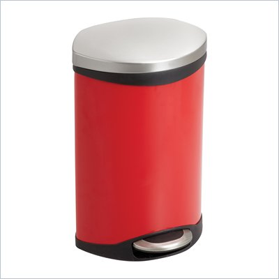 Safco Step-On Receptacle - 3 Gallon in Red