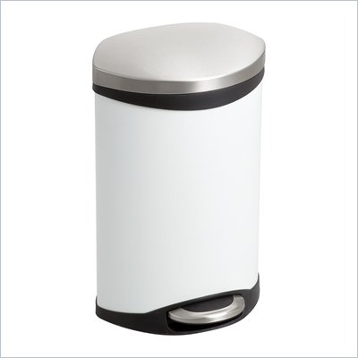 Safco Step-On Receptacle - 3 Gallon in White