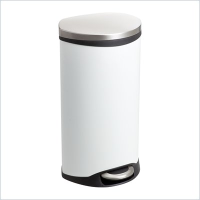 Safco Step-On Receptacle - 7.5 Gallon in White