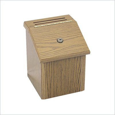 Safco Wood Locking Suggestion Box