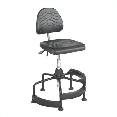 Safco Task Master Deluxe Industrial Chair/Drafting Stool in Dark Grey
