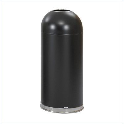 Safco Black Open Top Dome Receptacle