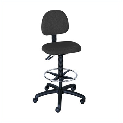 Safco Trenton Extended Height Drafting Chair in Black