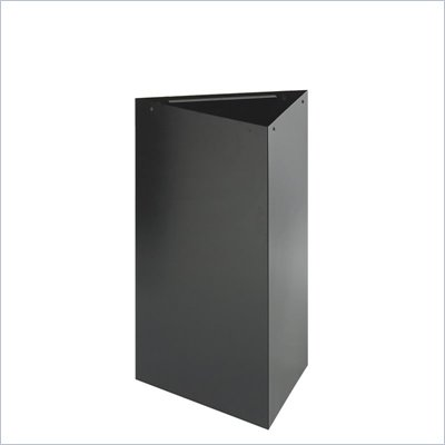 Safco Trifecta 30&quot;H Base for Trash Can/Recycling Receptacle in Black